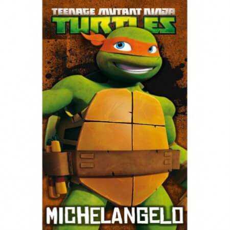 w_Toalla de playa Michelangelo de las Tortugas Ninja