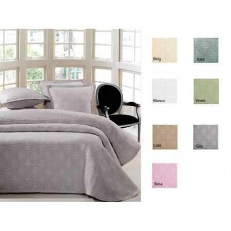 Tejidos JVR - Colcha piqué RITMO cama 105 - Color Beig
