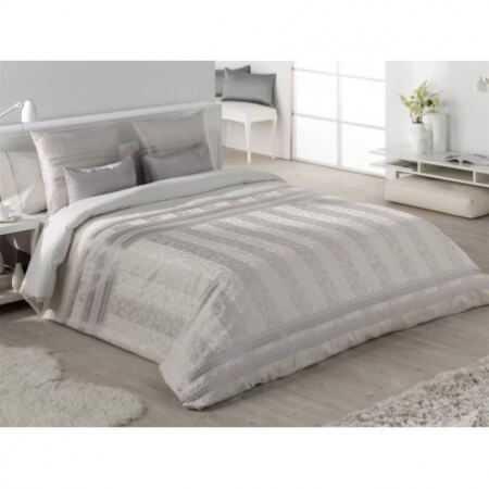 Tejidos JVR - Funda Nórdica NELLA cama 105 - Color Plata