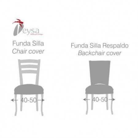 Funda silla con respaldo THOMSON Pack 2 color Gris de Eysa