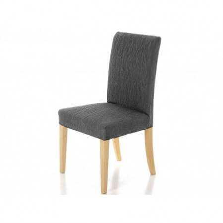 Cañete - Funda silla con respaldo 50cm BACO pack 2 unidades - Color Gris