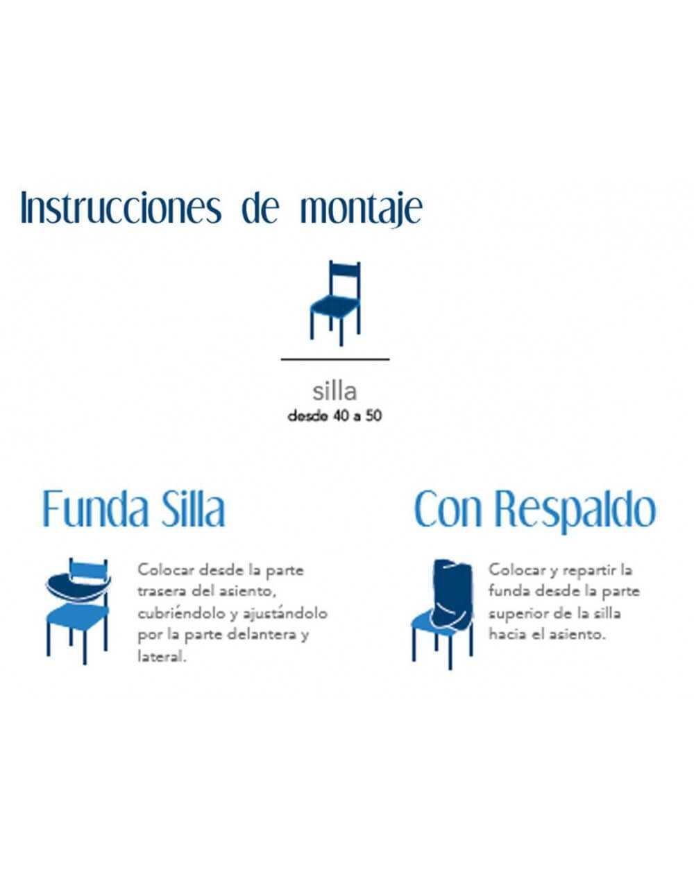 Funda silla ENZO de Cañete