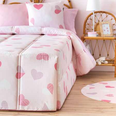 Edredón Conforter CORAZONES de Confecciones Paula
