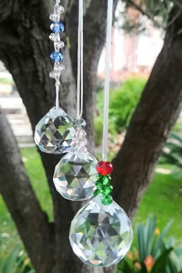 donde colocar las bolas de cristal feng-shui