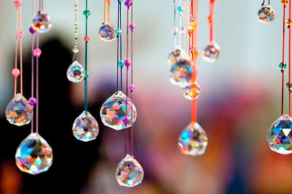 bolas feng-shui de cristal
