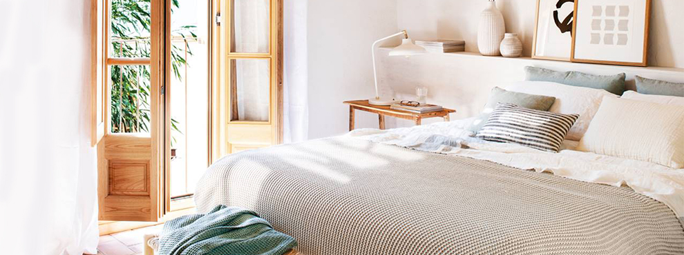 decorar con textiles frescos de verano
