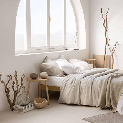 ropa de cama japandi