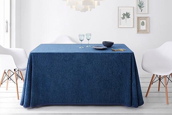 faldas camillas de chenilla en color azul